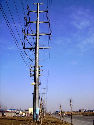 直线塔是支撑绝缘子只承受导线的自身重力;耐张塔除